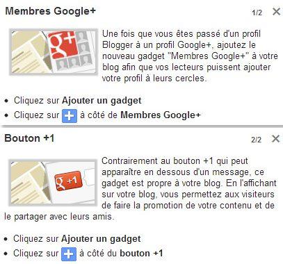 Le réseau social Google+ intégré dans Blogger