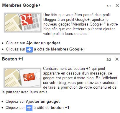 Google+ intégré dans la plateforme Blogger
