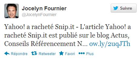Jocelyn Fournier sur Twitter