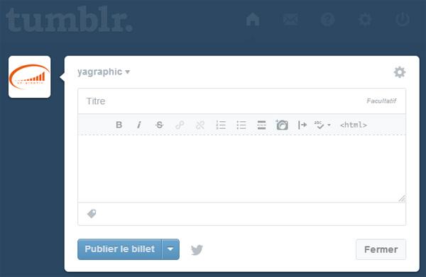 L'évolution du tableau de bord de Tumblr est une réussite