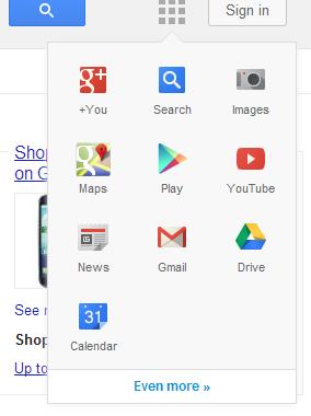 Bientôt un nouveau menu de navigation chez Google ?