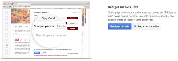 Google va supprimer les faux avis des pages locales Google+