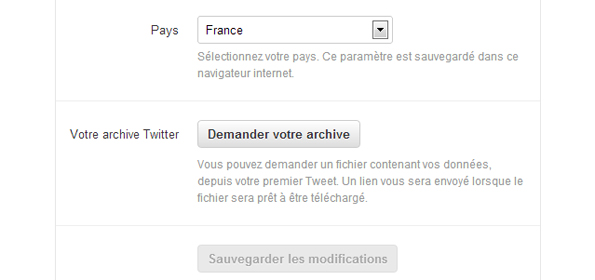 Sauvegarder les archives Twitter