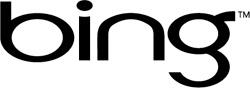 Logo de Bing noir.