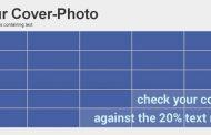 Couverture Facebook pour entreprise: ne dépassez pas 20 % de texte