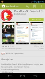 DuckDuckGo pour Android