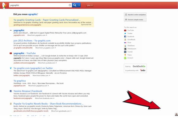 Easter egg dans le moteur de recherche DuckDuckGo