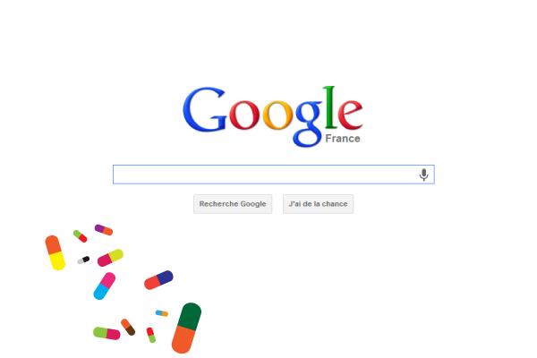 Publicités Google de produits pharmaceutiques sans ordonnance médicale