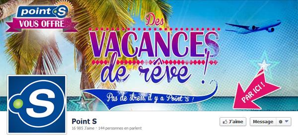 Page Facebook de Point S