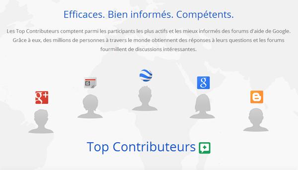 Les Top Contributeurs de Google