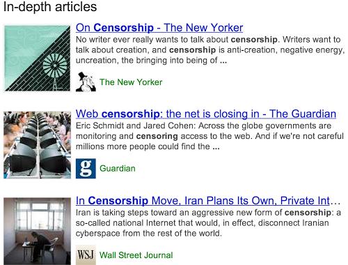 Google lance la recherche d'articles de fond