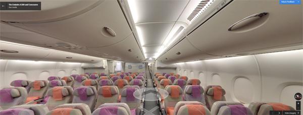 Sièges de l'A380 de la compagnie Emirates