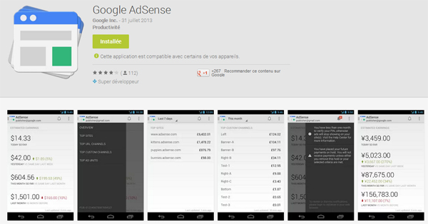 Google AdSense : application officielle pour Android et iOS