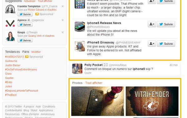 Twitter lance sa propre «recherche universelle »