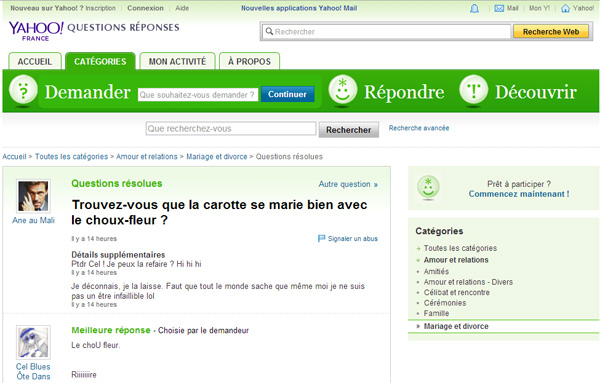 Ancien Yahoo Answers