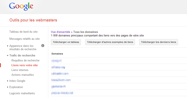 Backlinks Google Webmaster Tools