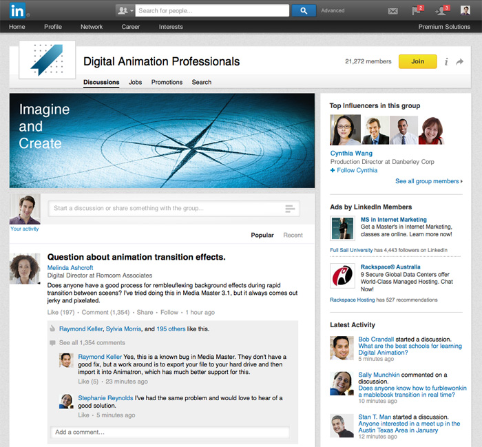 Nouveau design groupe LinkedIn
