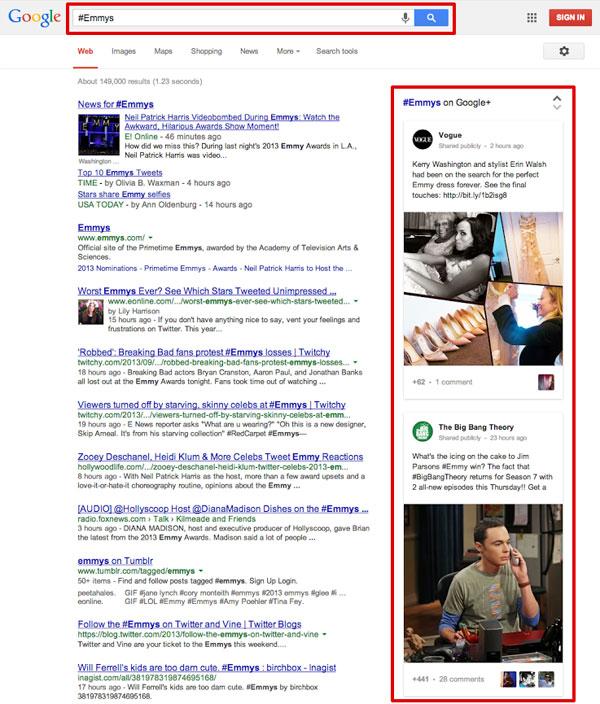 Google introduit la recherche par hashtag dans son moteur de recherche