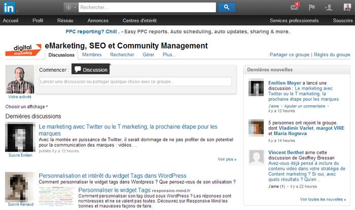 Nouveau design groupe LinkedIn Digital Marketing