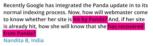 Matt Cutts donne des réponses au sujet de Google Panda