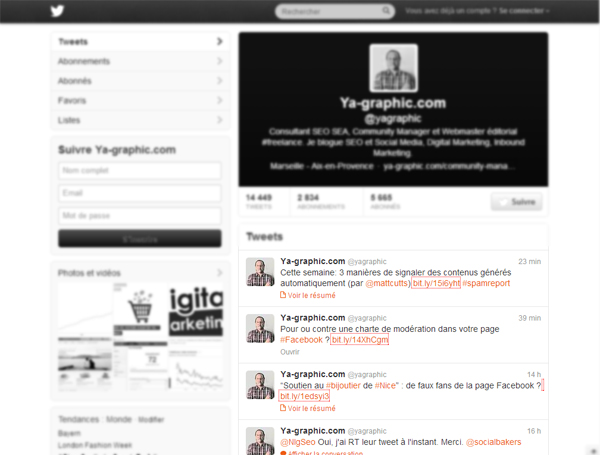 Twitter : la résolution d'écran de 768x1024 n'affiche que les 4 derniers tweets