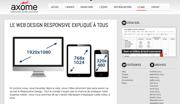 Axome : Le Web Design Responsive expliqué à tous