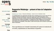 openweb : Responsive Webdesign – présent et futur de l'adaptation mobile
