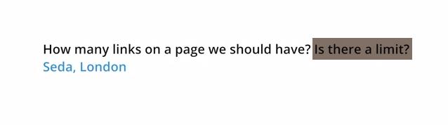 Matt Cutts : vous pouvez créer plus de 100 liens sortants depuis votre page web