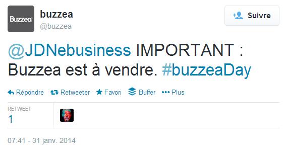 Buzzea est à vendre