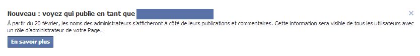Administrateurs d'une page Facebook