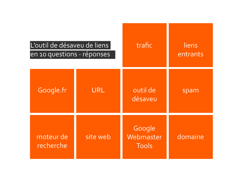 10 choses à savoir sur l'outil de désaveu de Google