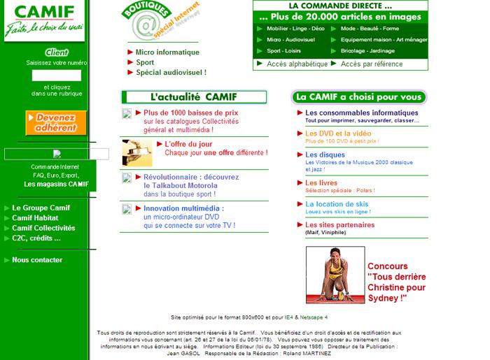 Le design des sites e-commerce en l'an 2000, voilà ce que c'était