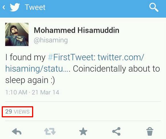 Twitter expérimente le nombre de vues dans les tweets d'utilisateurs