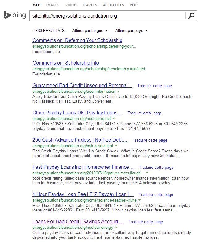 Opérateur site: dans Bing pour afficher les liens d'un site web