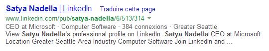 Satya Nadella dans Bing.com