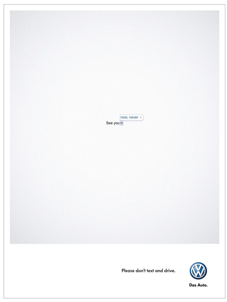Sécurité routière Volkswagen - Please don't text and drive