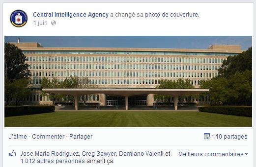 Page Facebook de la CIA
