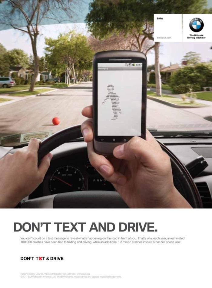 BMW : quand vous conduisez, n'envoyez pas de SMS
