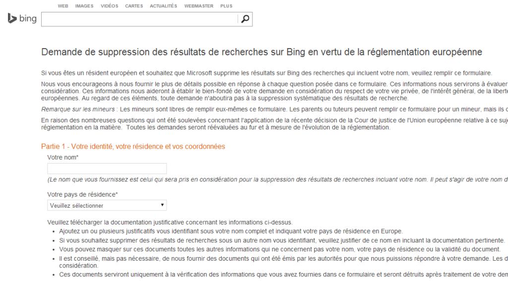 Droit à l'oubli : pourquoi Bing a-t-il tardé ?