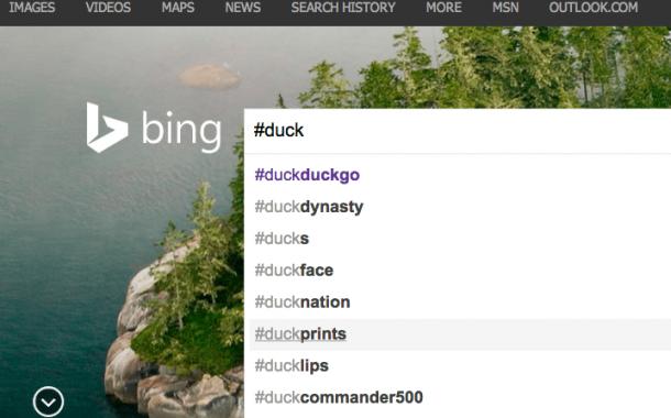 Bing permet la recherche de tweets et de comptes Twitter