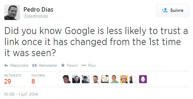 Révélation d'un ancien de Google : le moteur de recherche ferait moins confiance aux liens modifiés