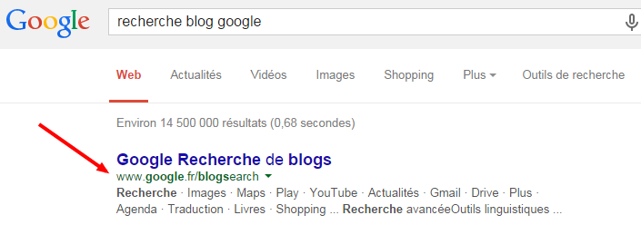 Google Recherche de blogs apparaît dans Google Actualités