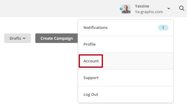 Account dans MailChimp