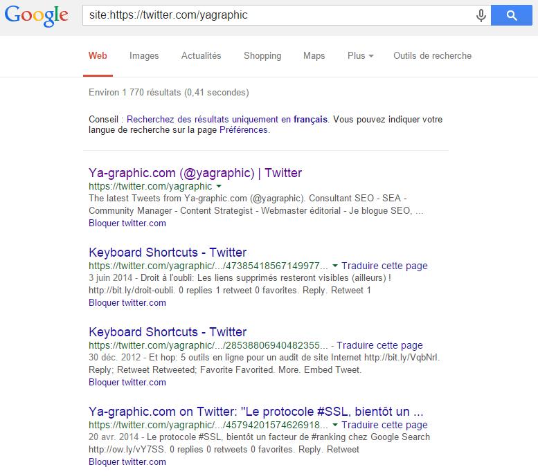 Les tweets sont indexés dans le moteur de recherche de Google (2015)