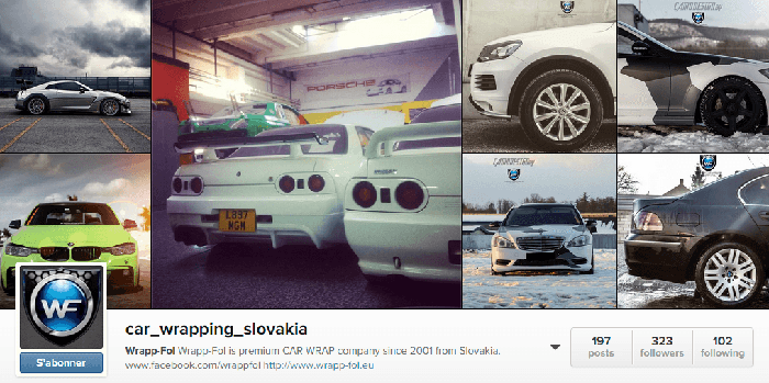 Car Wrapping Slovakia dans Instagram