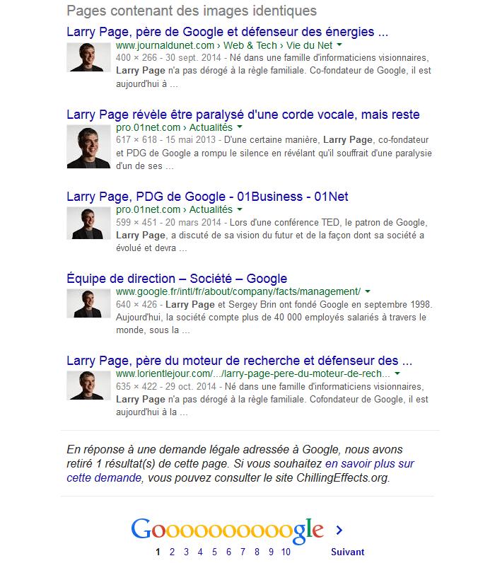 Photos de Larry Page dans Google Images