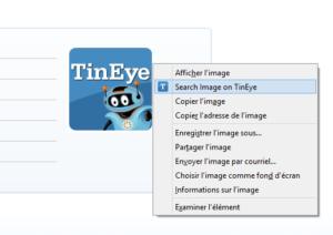 Rechercher une image avec l'extension TinEye