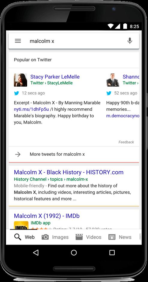 Google introduit les tweets en temps réel dans son moteur de recherche