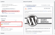 Stimuler la publication (Facebook) : les mots clés dans le ciblage par centres d'intérêt