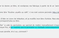 """WordPress : la mise à jour """"automatique"""" du permalien est déconseillée"""